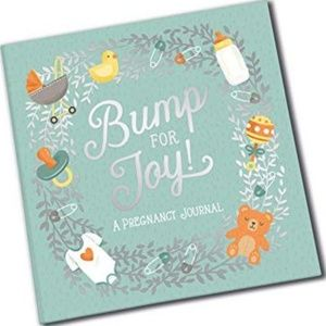 Bump for joy pregnancy journal blue scrapbook